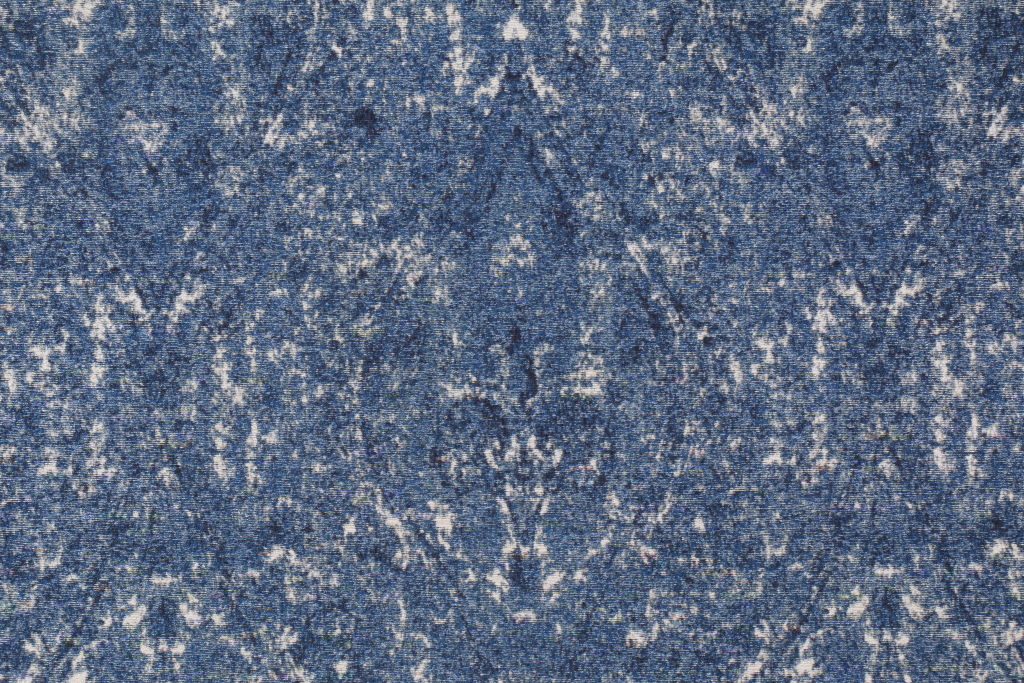 Robert Allen Ogee Paisley Tapestry Upholstery Fabric In Denim