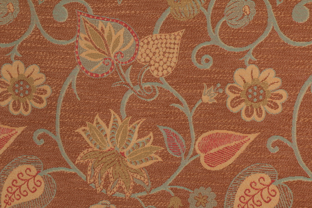 Rothschild Scarborough Tapestry Upholstery Fabric In Nutmeg