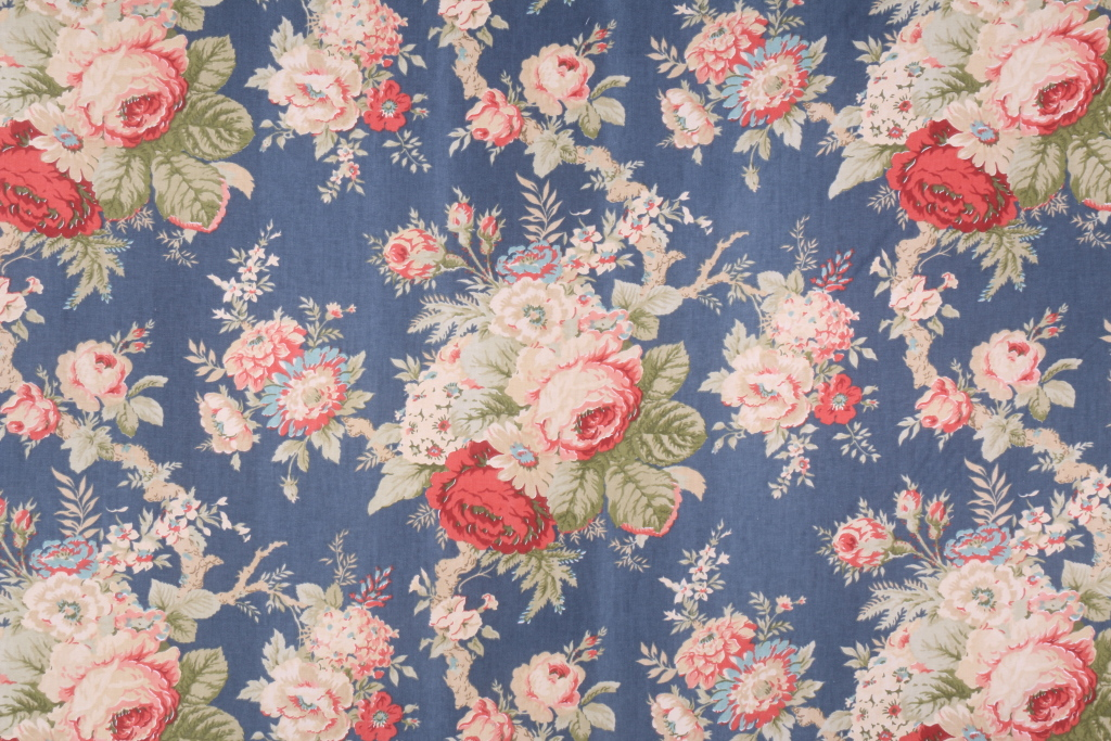 attractive Waverly Sanctuary Rose Part - 14: Waverly Sanctuary Rose Printed Cotton Drapery Fabric in Heritage $3.95 per  yard ...
