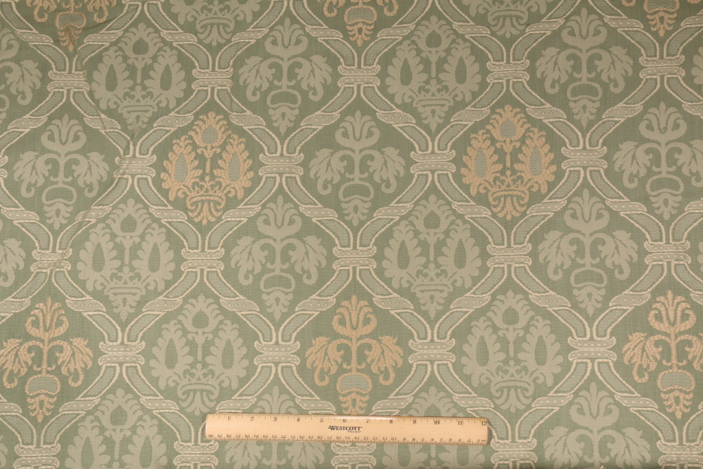 Beacon Hill Piacenza Italian Damask Upholstery Fabric In Mint