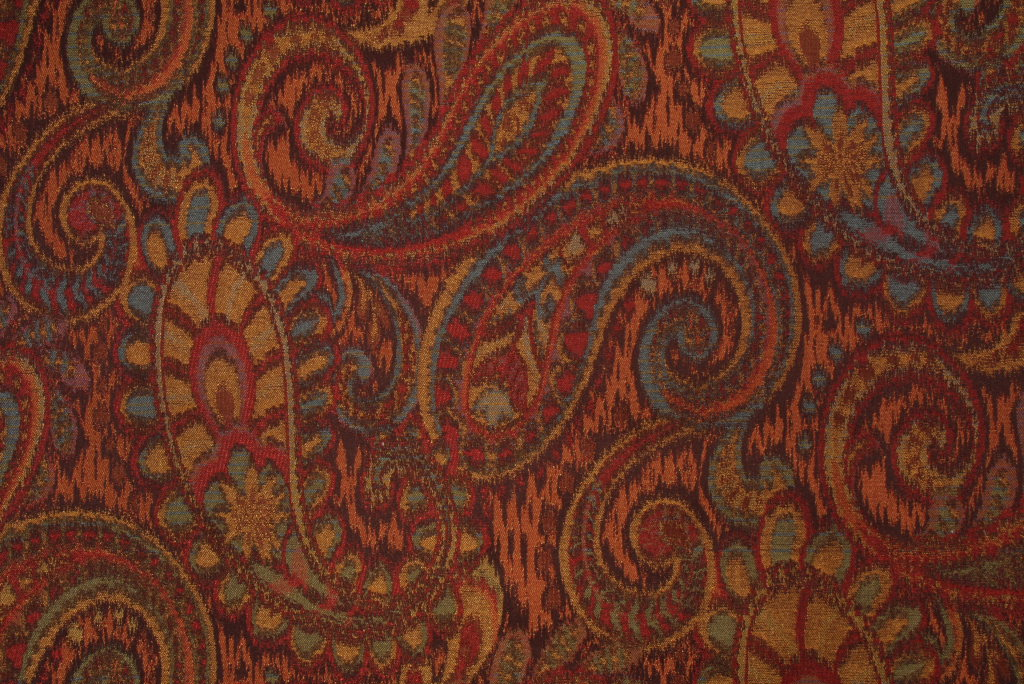 Robert Allen Tamil Paisley Tapestry Upholstery Fabric In Henna