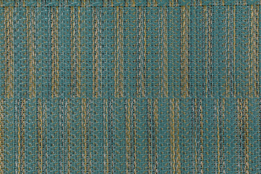 Teal Jacquard Woven Vinyl Mesh Sling Chair Outdoor Fabric