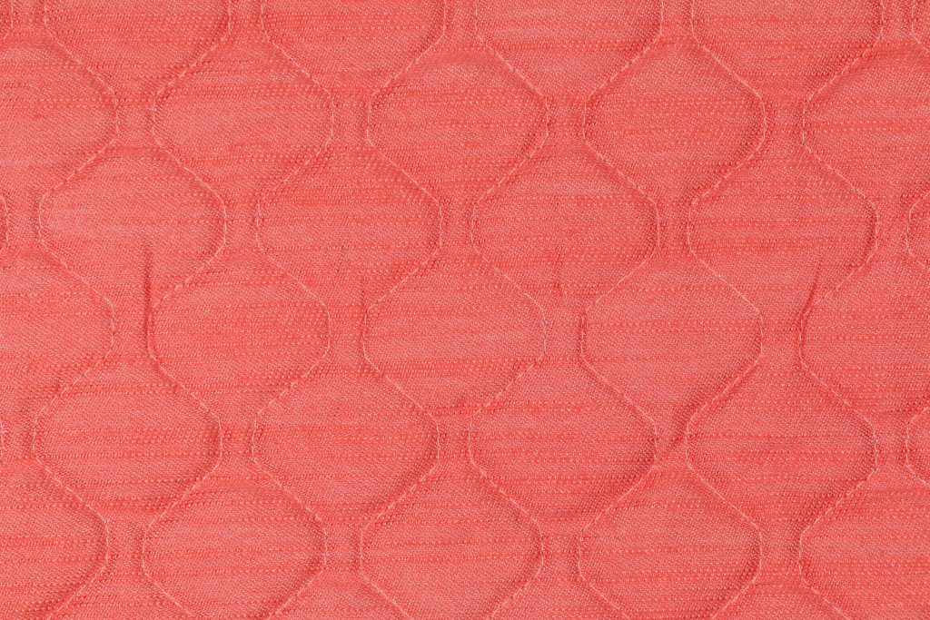 1 Yard Quilted Upholstery Fabric In Coral Reef