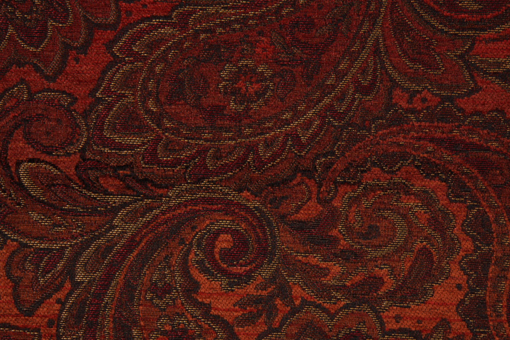 Mckenna Chenille Tapestry Upholstery Fabric In Bittersweet