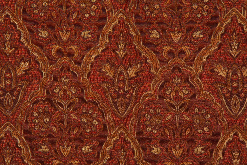 Childs Tapestry Upholstery Fabric In Mahogany