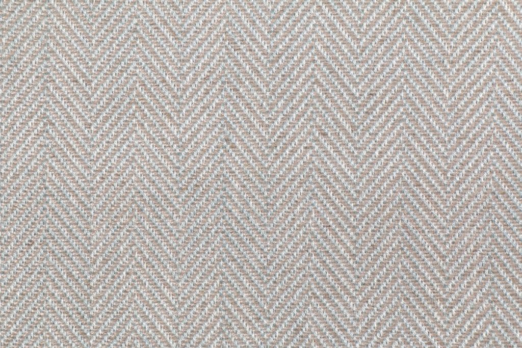Yards Chevron Upholstery Fabric in Blue/Tan