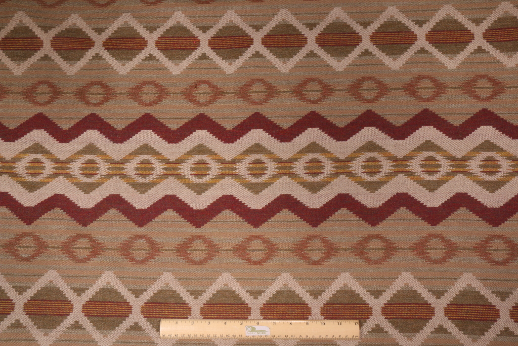 Southwestern Wool Tapestry Upholstery Fabric